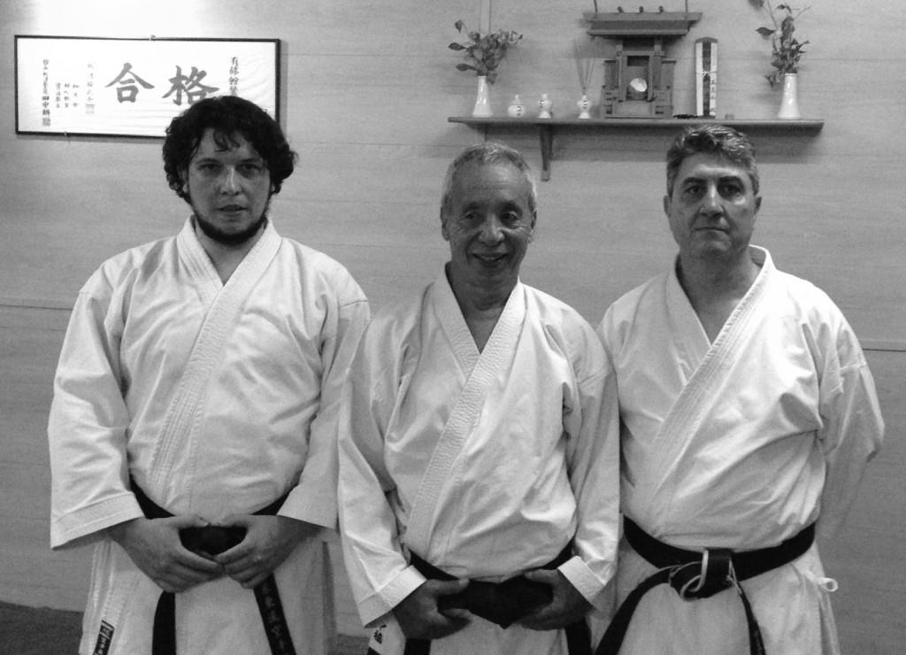 Nakahashi Sensei y Fernando Sensei en Kyohan