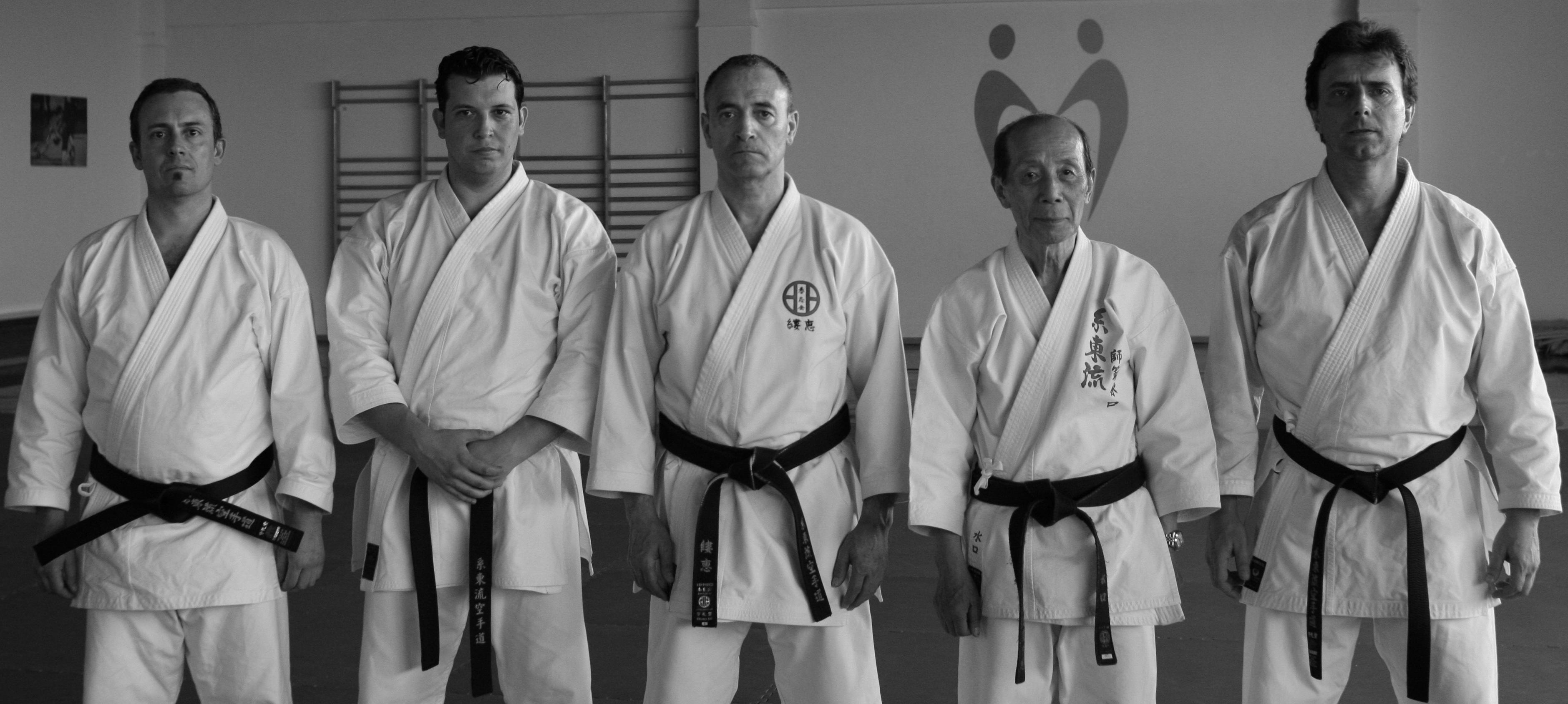Jacob Sánchez junto a Mizuguchi y Jean Eric en Granada